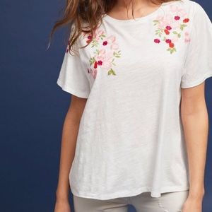 anthropologie super cute embroidered tee!!!